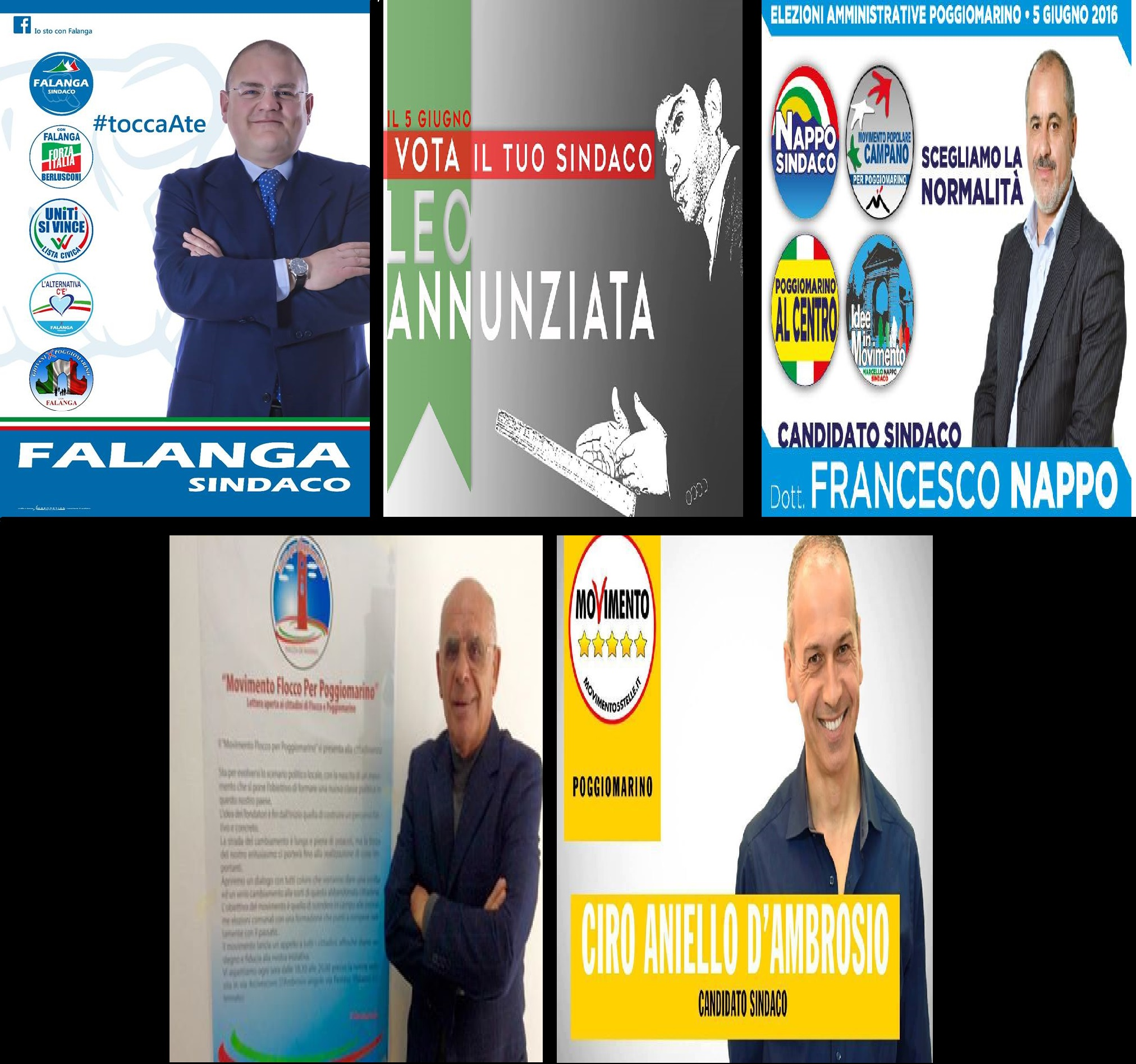 Candidati sindaco comunali Poggiomarino 2016